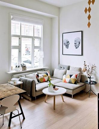 Ide dekorasi apartemen ruang tamu kecil